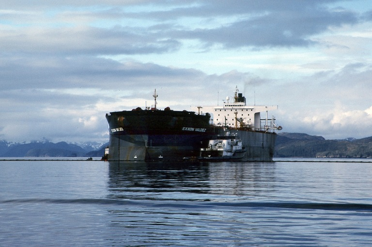 Exxon Valdez in Prince William Sound, Alaska