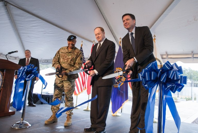 Comey, Other Officials at TEDAC Ribbon Cutting Ceremony