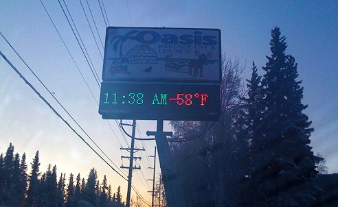 Fairbanks Temperature Reading