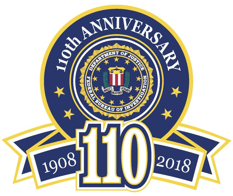 FBI 110th Anniversary logo (with seal)