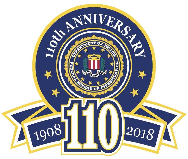 FBI 110th Anniversary logo (with seal)