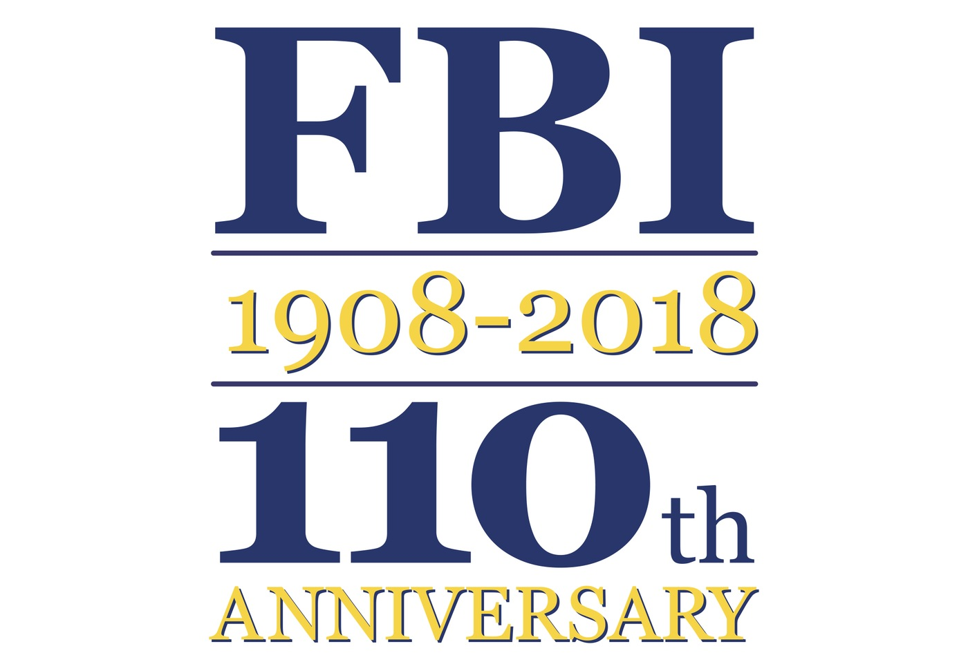 FBI 110th Anniversary Logo (Text Only)