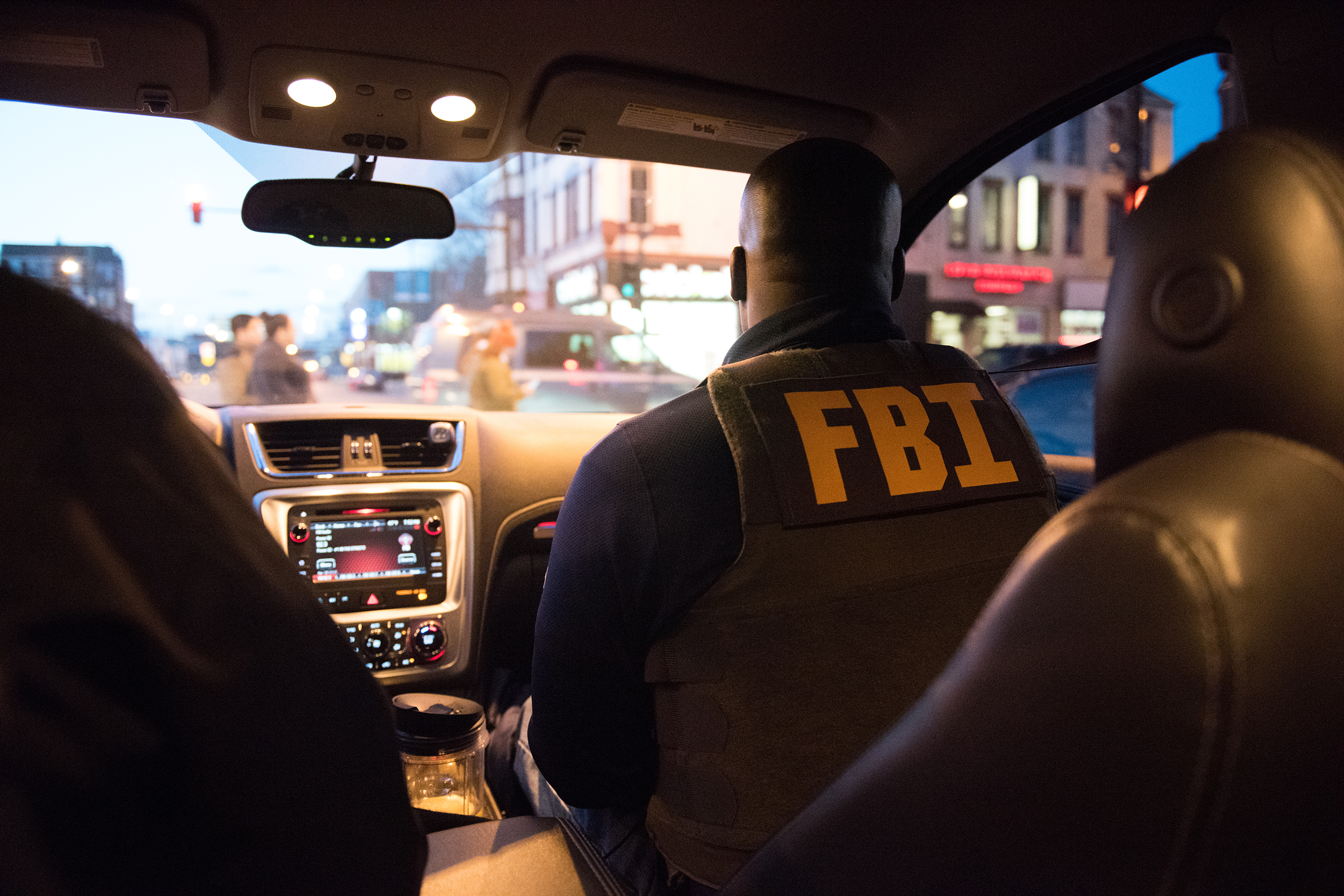 FBI Task Force Agent on Patrol in Chicago