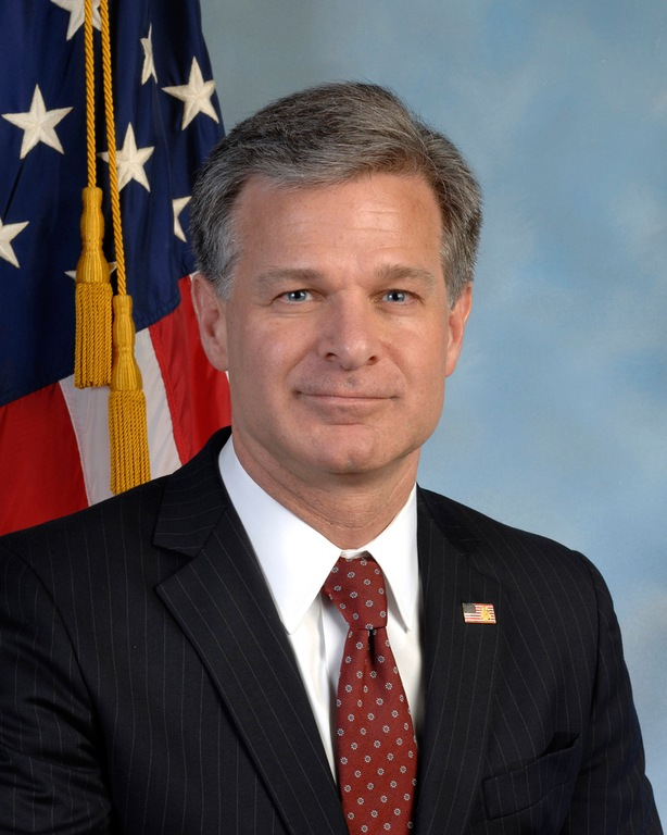 FBI Director Christopher Wray Portrait