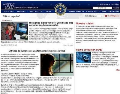 FBI en Español Webpage