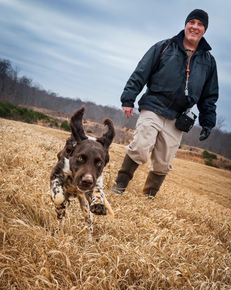 FBI K9 Handler and Puppy in Training