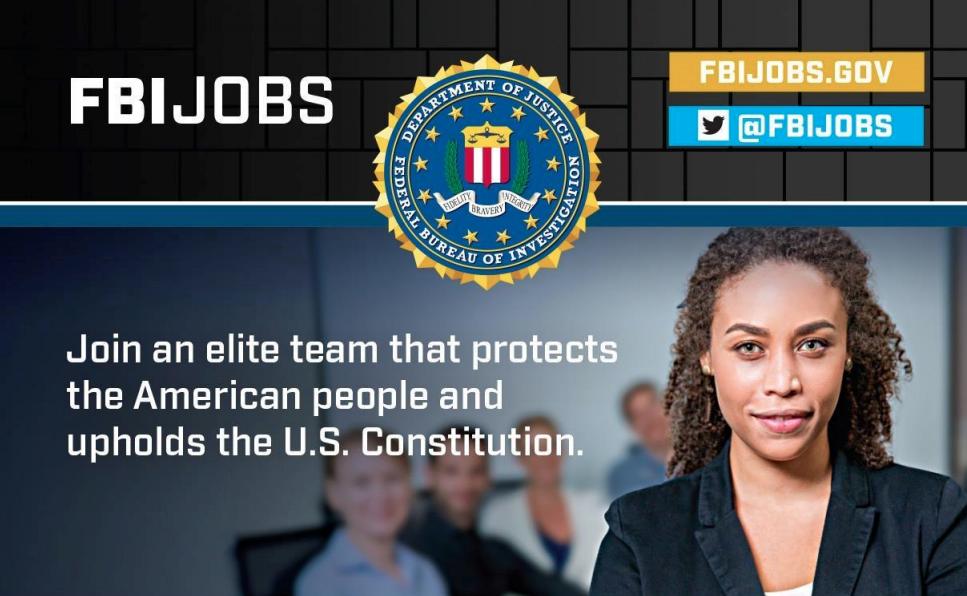 FBI Jobs recruitment flyer