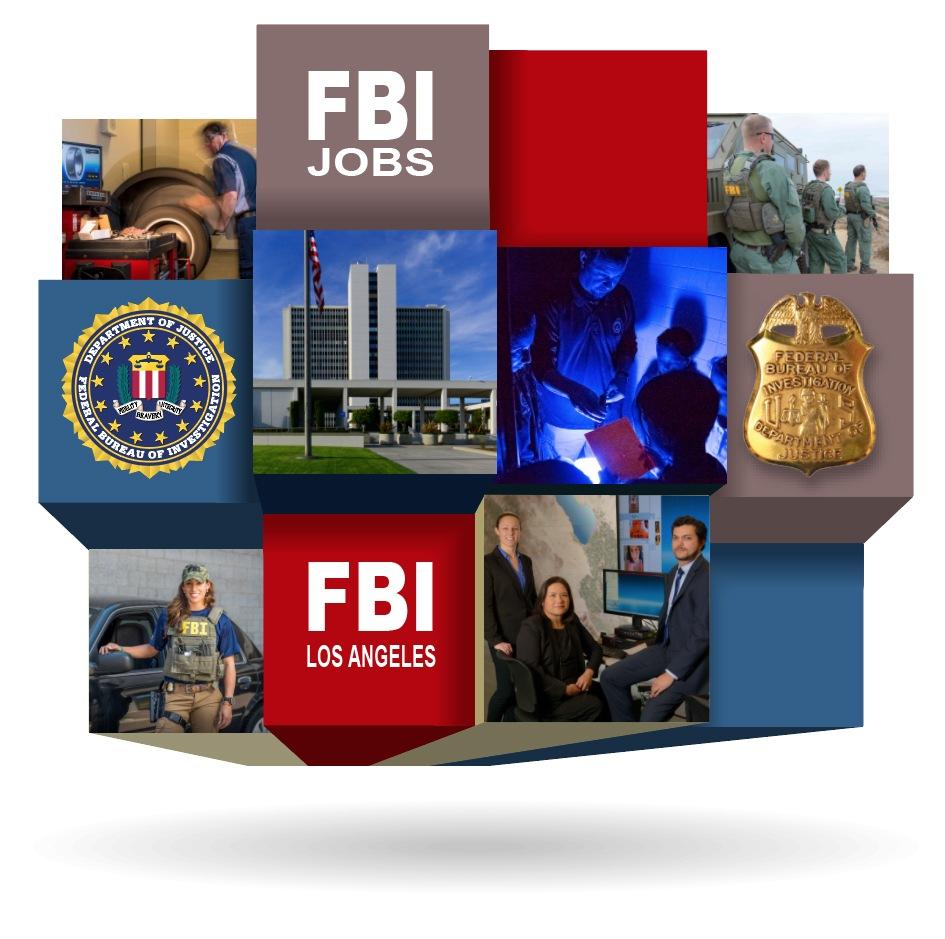 Recruitment webpage graphic for FBI Los Angeles.