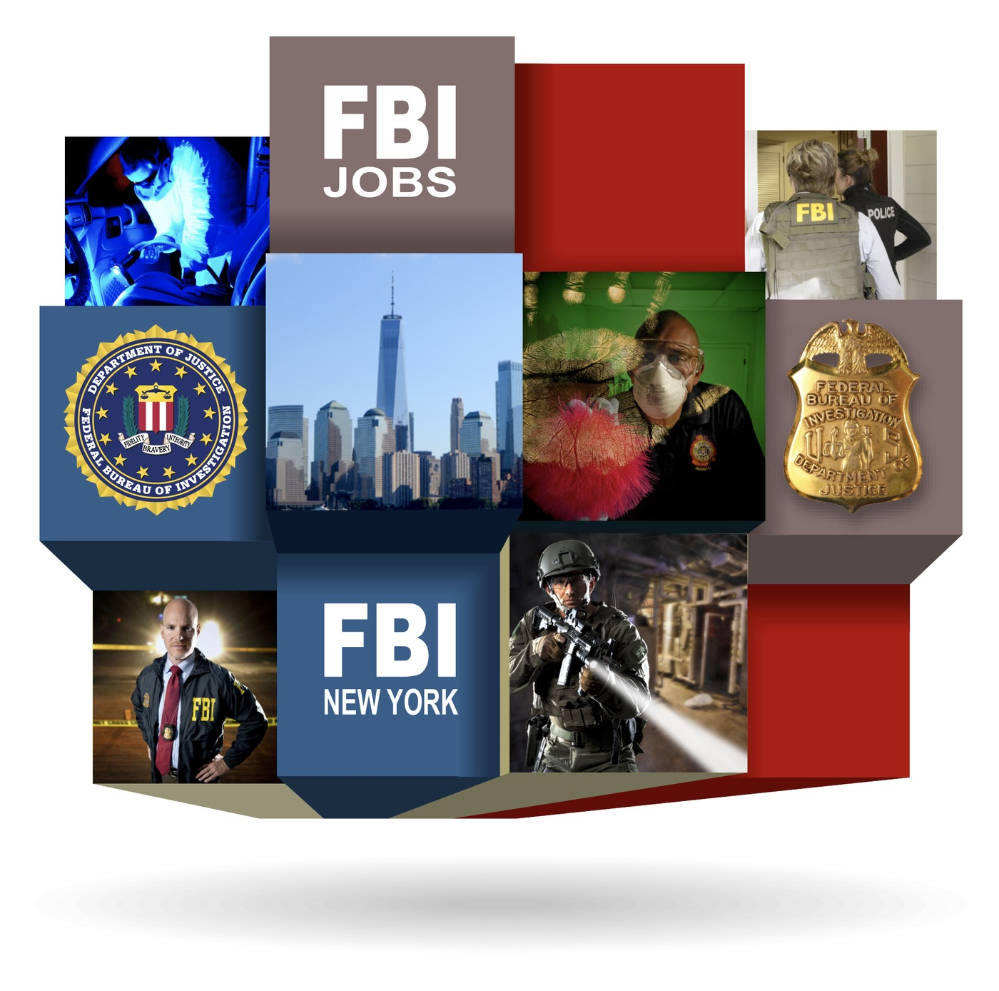 Main graphic for FBI New York recruitment page