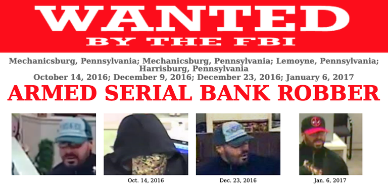 The FBI is now offering a reward of up to $25,000 for information leading to this subject's arrest and conviction.