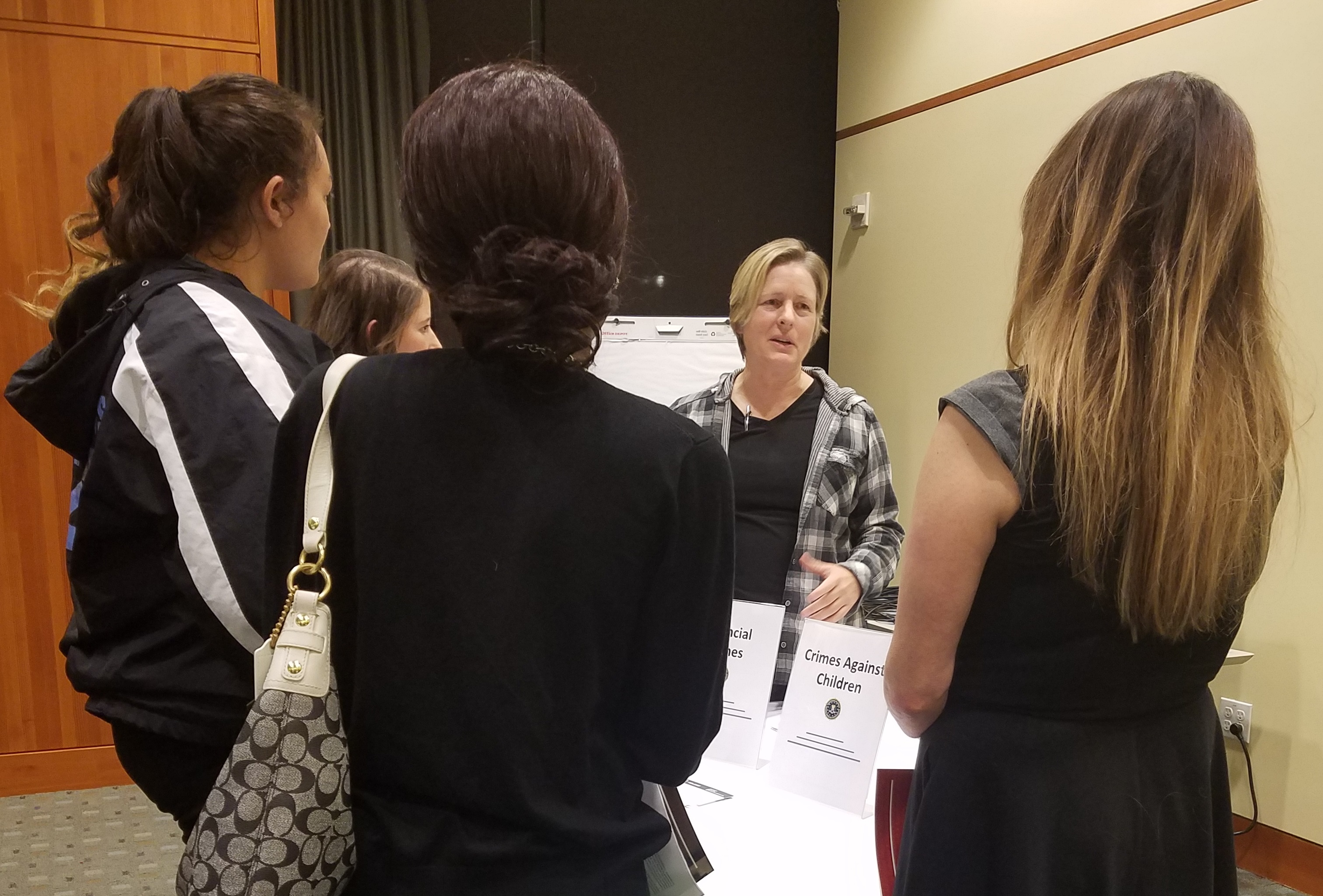 The FBI's Portland Division, in partnership with ChickTech, is working to recruit women with backgrounds in science, engineering, math and computers. In late October, more than 75 women came together to learn about life in the FBI, the career options available and the benefits to public service.