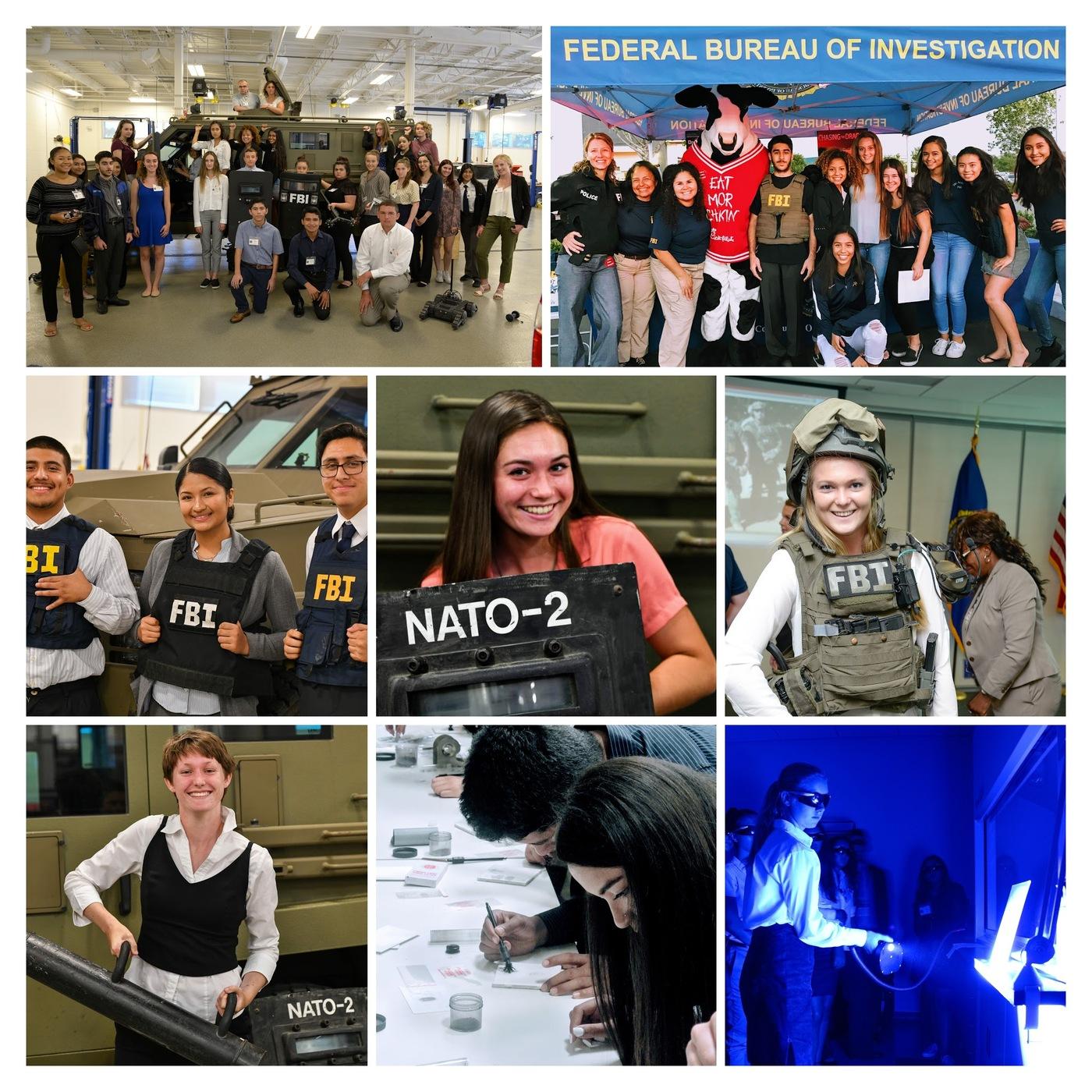 FBI San Diego Teen Academy collage