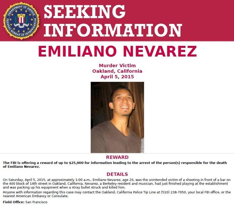 FBI Seeking Information Poster from 2016