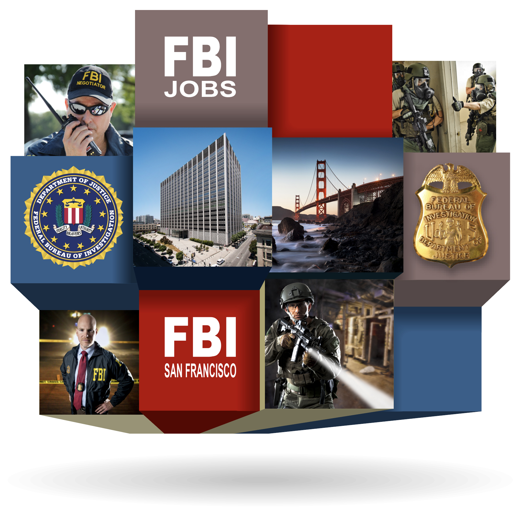 Recruitment graphic for FBI San Francisco.