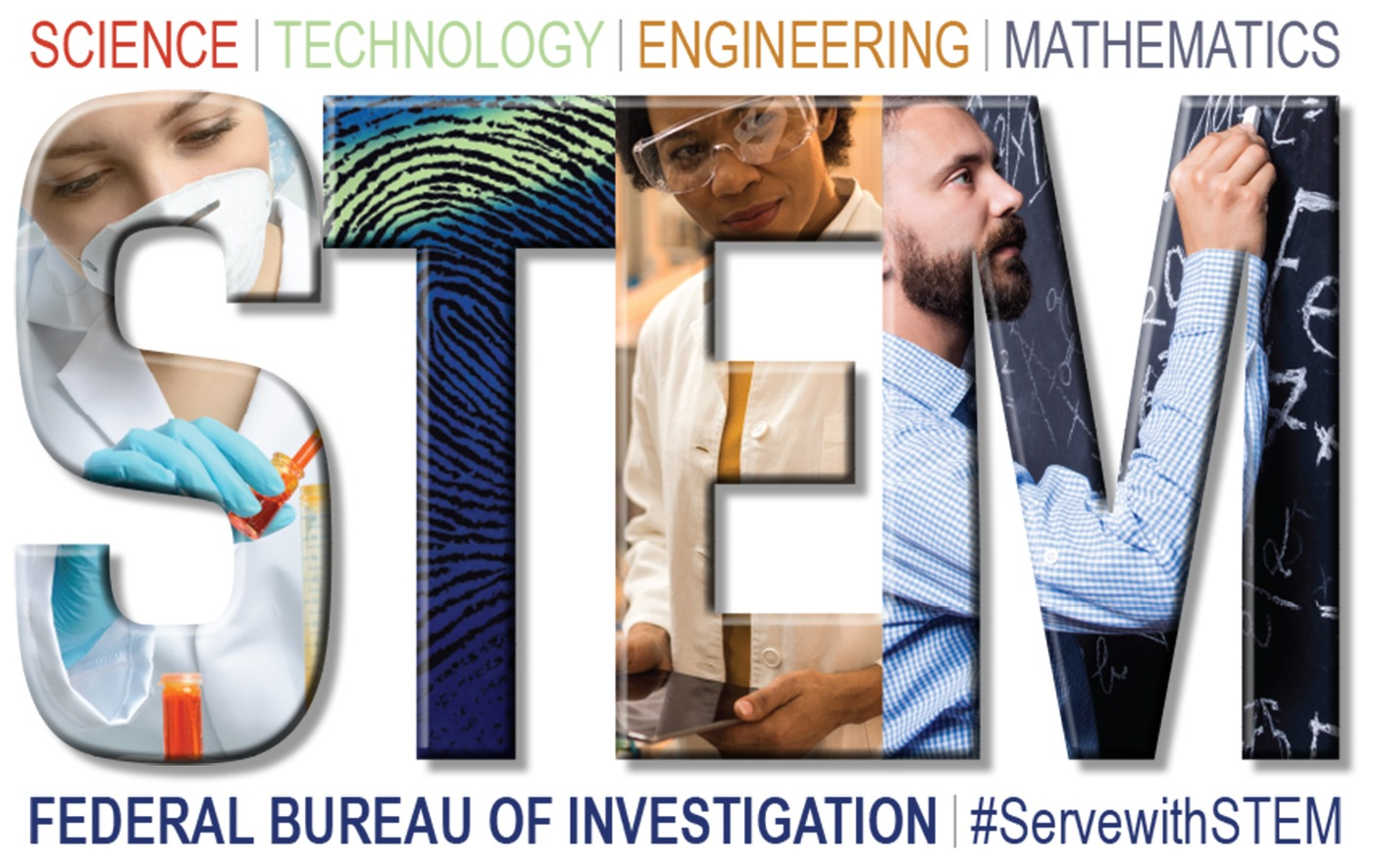 Graphic that represents the FBI's STEM program.