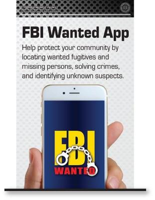 FBI Wanted App Brochure