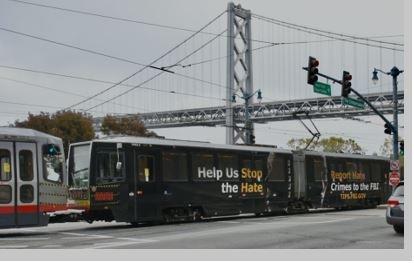 FBI Advertisement on Train Oakland Bay Bridge