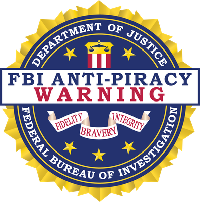 FBI Anti-Piracy Warning Seal (Small)