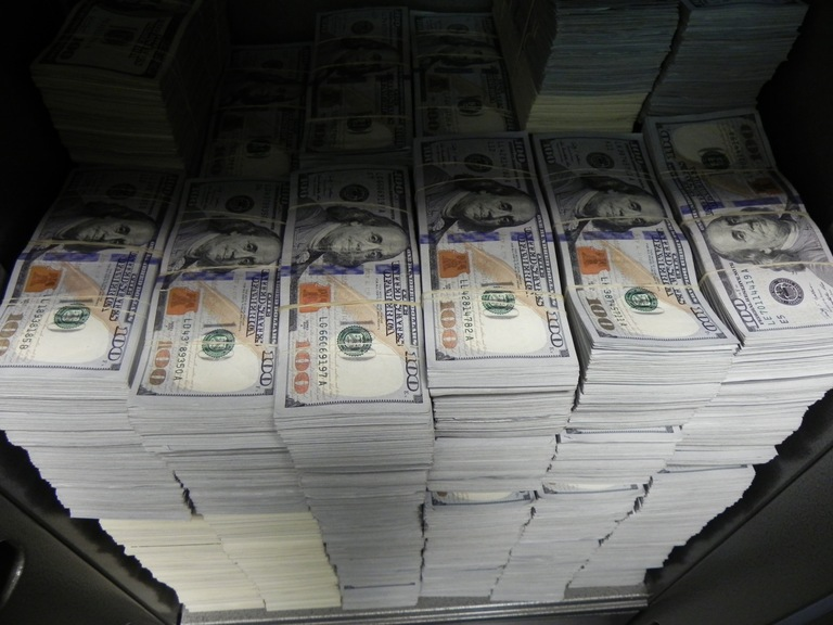 At one location during the September 10 takedown in Los Angeles, FBI agents seized nearly $3 million in cash.