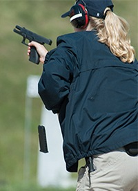 New Agent During Firearms Training