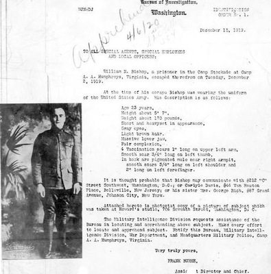 FBI's First Identification Order