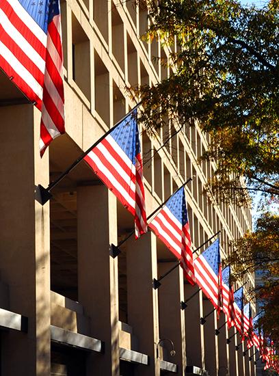 Flags And Banners At Fbi Headquarters  U2014 Fbi
