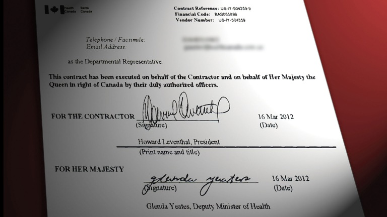Forged Health Canada Contract by Howard Leventhal