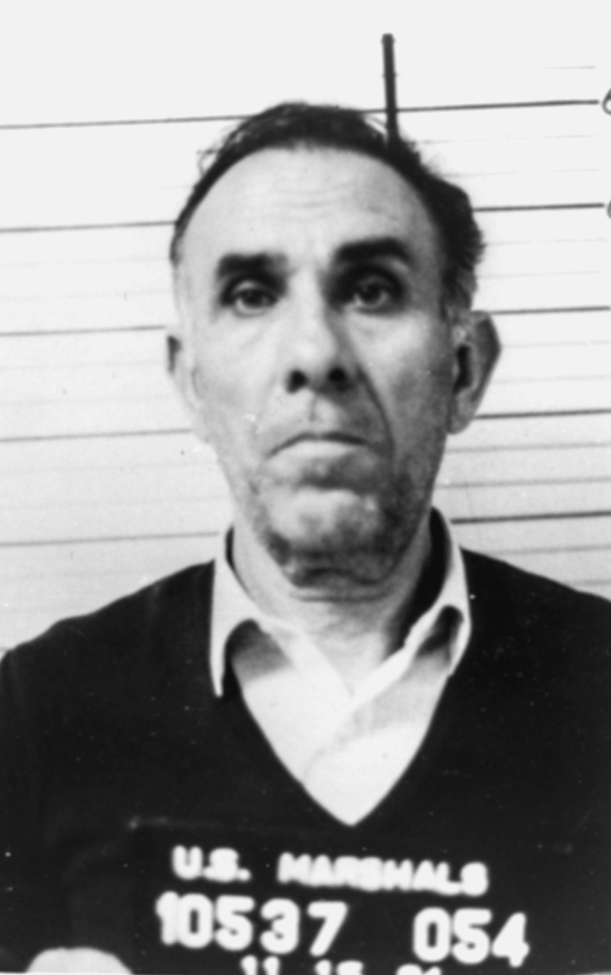1984 U.S. Marshals arrest photo of Gaetano Badalamenti, part of the Pizza Connection case.