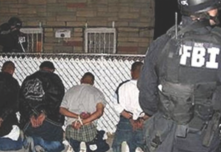 FBI arrests suspected members of the MS-13 gang in New York.