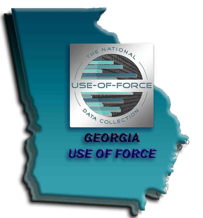 Graphic depicting outline of state of Georgia with the National Use-of-Force Data Collection logo superimposed. (From CJIS Link article.)