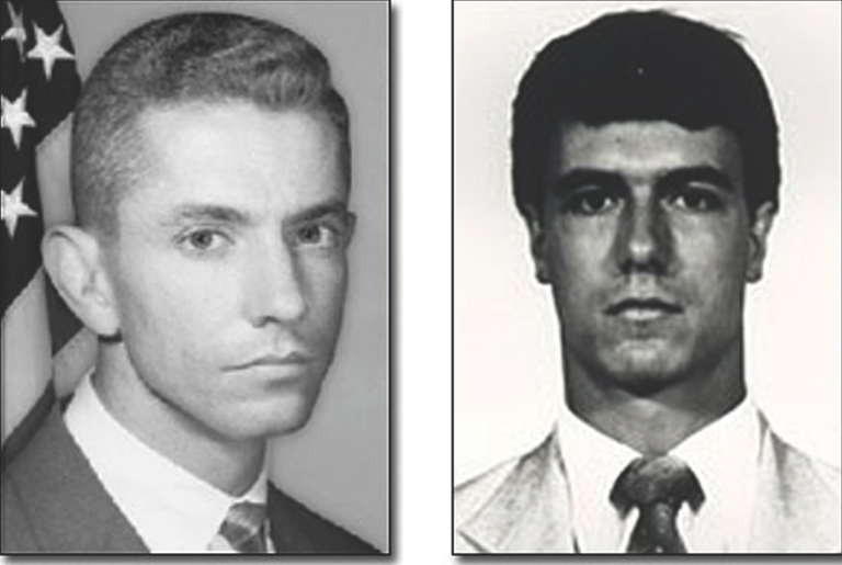 Miami FBI Special Agents Benjamin Grogan, left, and Jerry Dove were killed in a firefight on April 11, 1986 just outside the city of Miami.