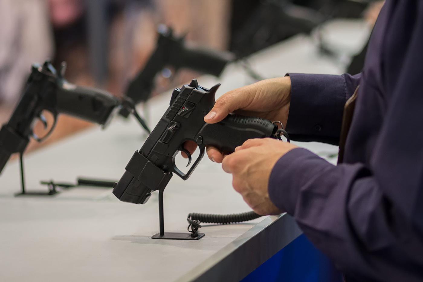 Gun in his hand