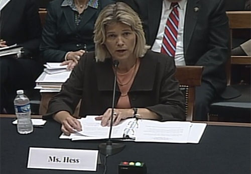 Amy Hess testifies before the House Judiciary Committee, Subcommittee on Crime, Terrorism, Homeland Security in June 18, 2015. The hearing focused on the proposed federal Rapid DNA Act (H.R. 320).