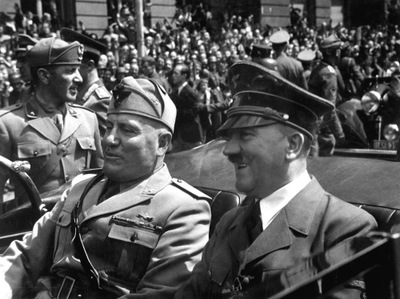 Adolph Hitler and Benito Mussolini in 1940. AP Photo.