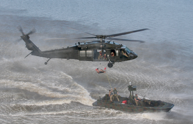 HRT Training: Injured Boater Airlift