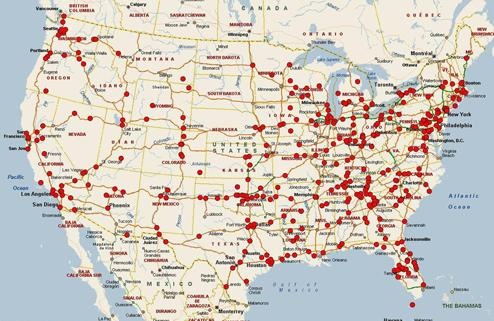 This U.S. map shows the more than 500 cases in our Highway Serial Killings Initiative database; the red dots mark where bodies or remains have been found along highways over the past 30 years.