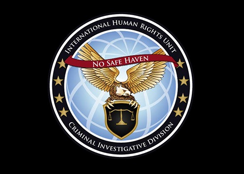 International Human Rights Unit seal on black background.