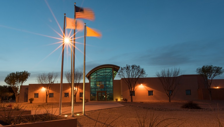 The International Law Enforcement Academy (ILEA) building in Roswell, New Mexico