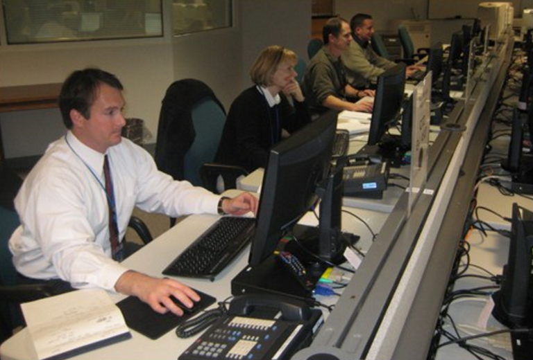 Inside the Strategic Information and Operations Center or SIOC during 2009 Inauguration