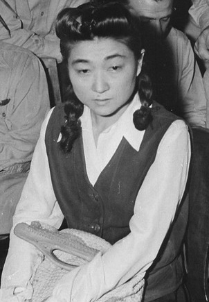 Iva Toguri Aquino, who gained notoriety as the mythical Tokyo Rose, was the seventh person to be convicted of treason in U.S. history. Photo courtesy of the National Archives.
