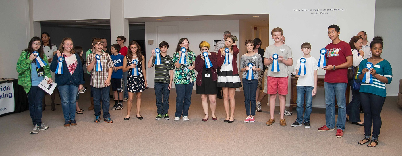 "At the ""Human Trafficking: Do You See It?"" exhibit hosted by the Northeast Florida Human Trafficking Coalition, awards of distinction were presented to several students whose work caught the judges' eyes. More importantly, the process of creating and showing their artwork gave students an opportunity to think about human trafficking and help raise awareness of its prevalence."