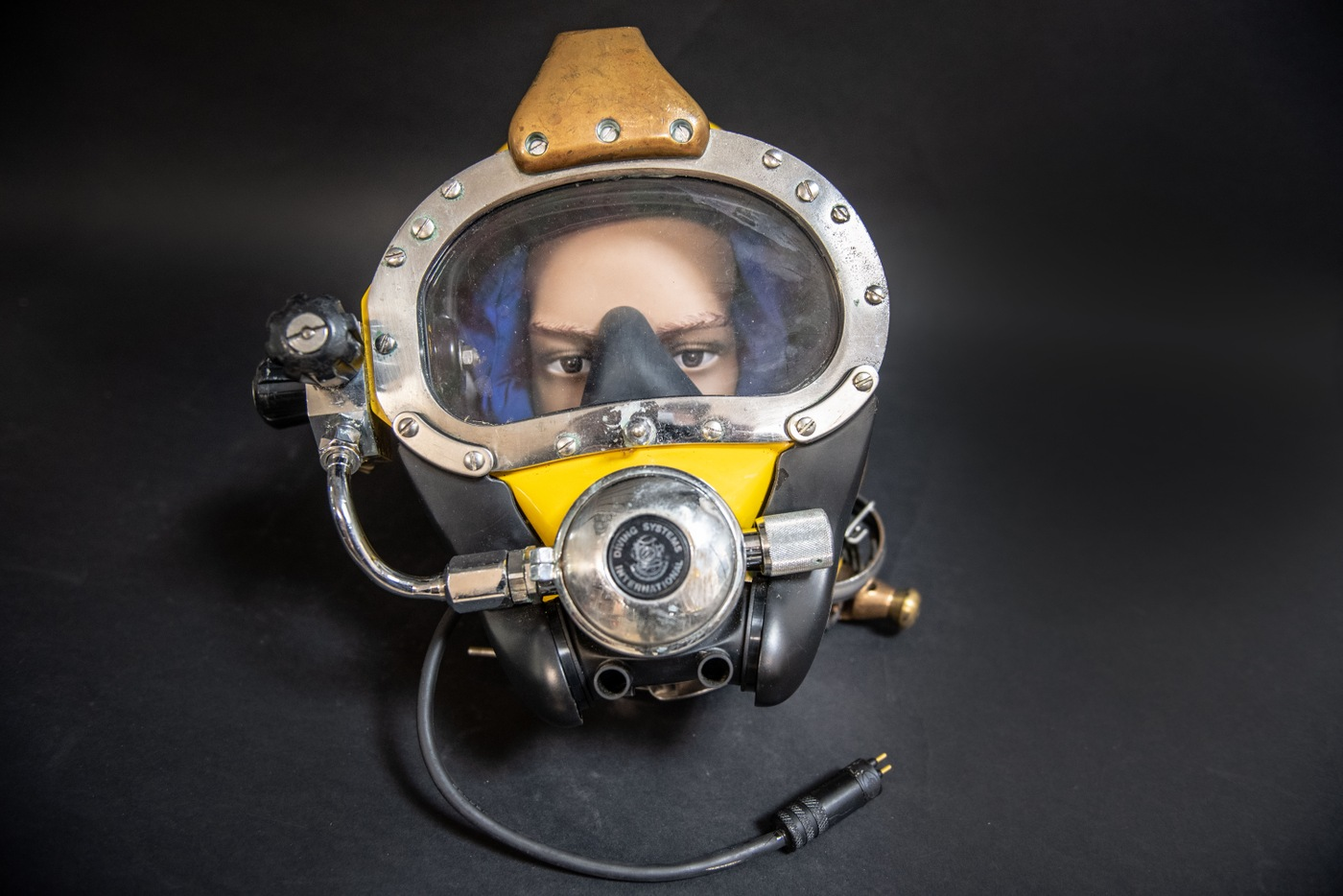 The FBI's January Artifact of the Month is a Kirby Morgan SuperLite 27—a diving helmet FBI divers used to wear.