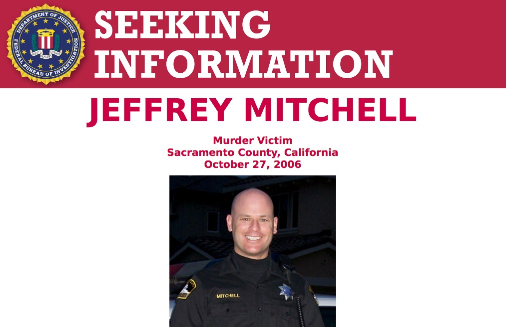 Screenshot of top portion of Seeking Information poster for Jeffrey Mitchell