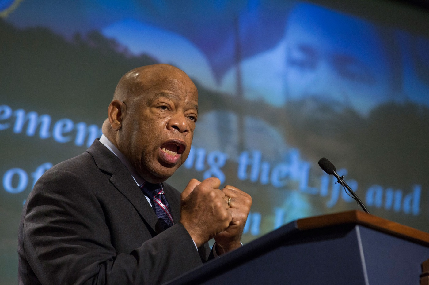 Congressman John Lewis Speaks at FBI Headquarters