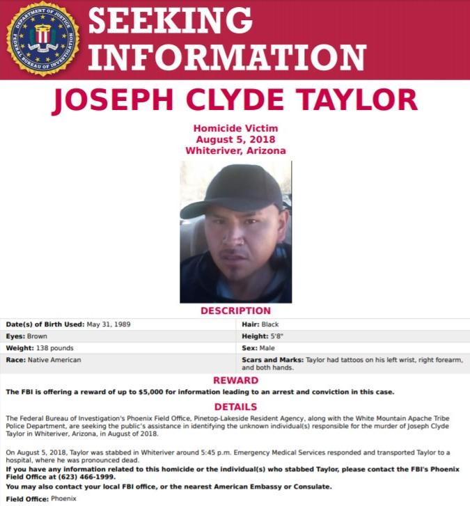 Joseph Clyde Taylor Seeking Information Poster