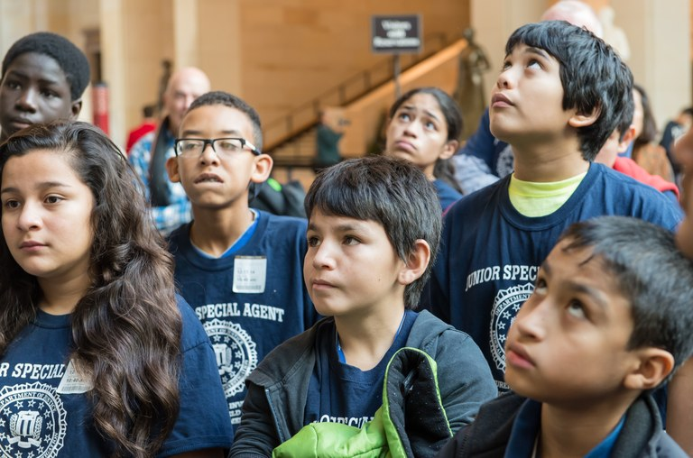 Sixth-graders from Bucknell Elementary School in Alexandria, Virginia tour the U.S. Capitol building in Washington, D.C. Located just outside the District of Columbia, Bucknell was one of the first schools to embrace the FBI's Adopt-A-School outreach program 20 years ago.