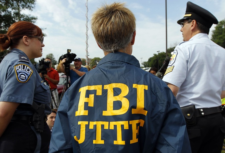 FBI Agent in Joint Terrorism Task Force Jacket (AP Photo)
