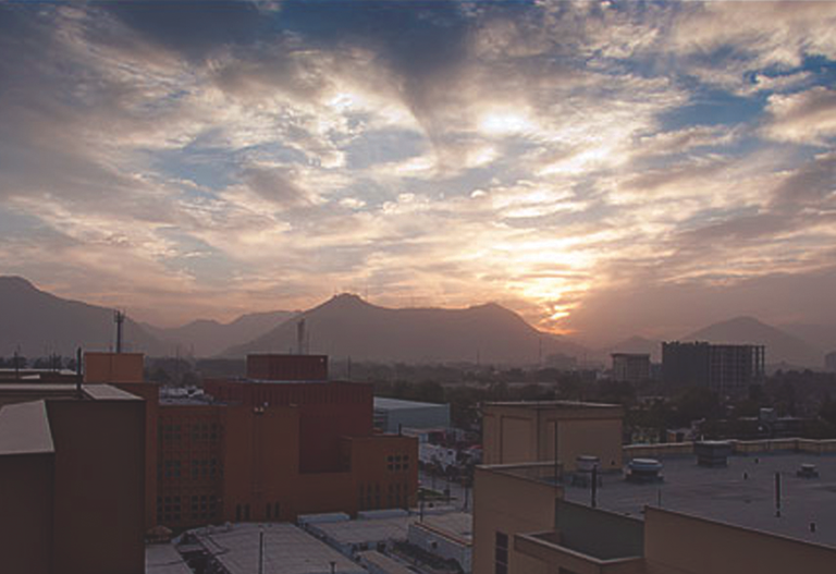 Kabul as seen from the U.S. Embassy, where our legal attachA(c) coordinates the Bureauas role in the region.