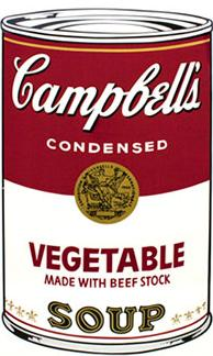 Andy Warhol Campbell's Soup Screen Print (Vegetable)
