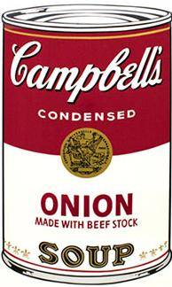 Andy Warhol Campbell's Soup Screen Print (Onion)